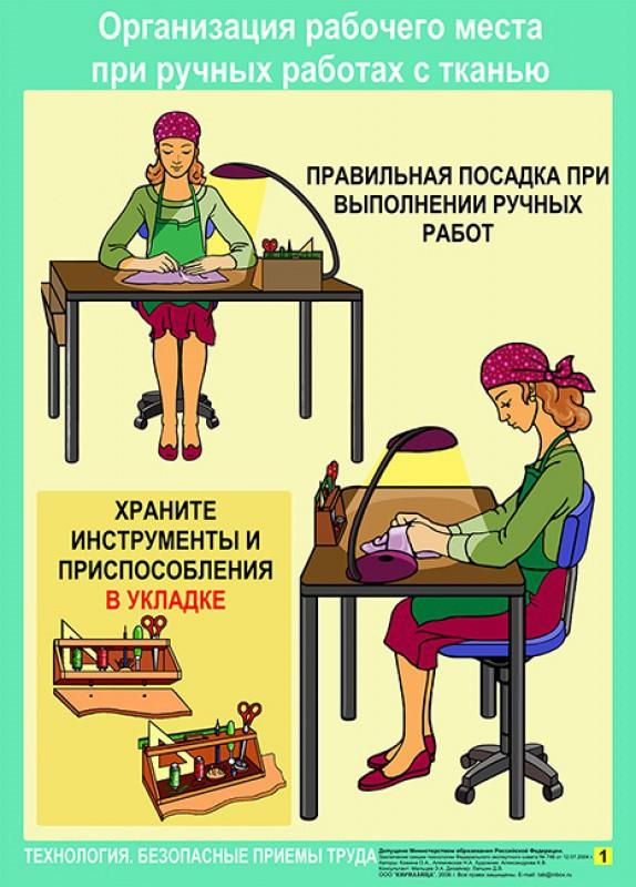 При работе с ручным инструментом и приспособлениями